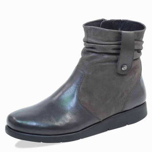 Caprice 9-25404-21 203 Dark Grey Women's Leather Ankle Boots
