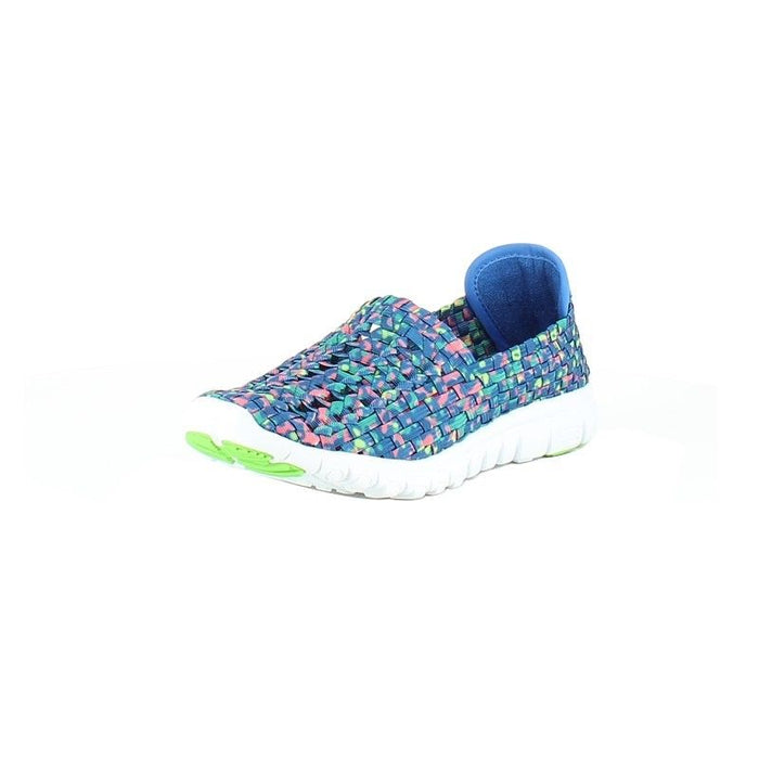 Heavenly Feet Lizzy Ocean Multi Womens Woven Slip On Lightweight Comfy Shoes