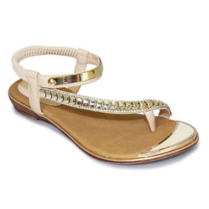 Lunar Asia Beige JLH753 Womens Comfortable Summer Toe Post Sandals
