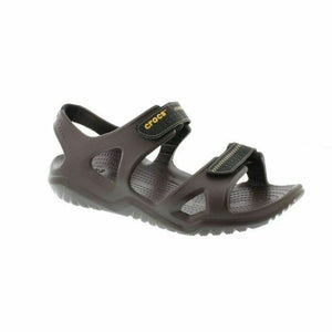 Crocs Swiftwater River Espresso/Black Men's Touch Fastening Lightweight Sandals