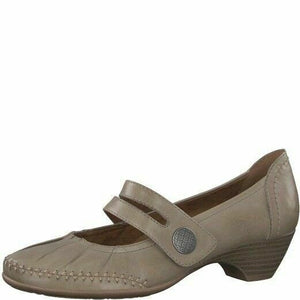 Jana 8-24311-20 324 Pepper (7989) Women's Heeled Mary Jane Work Leather Shoes