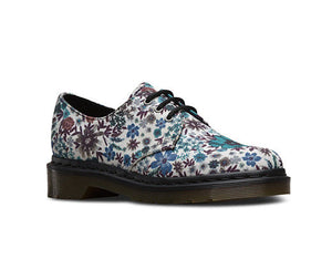 Dr Martens Women's Ladies Girls Lace Up Off White Lester Canvas Shoes