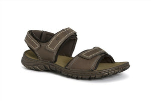 Josef Seibel Canim Brandy Men's Triple Strap Leather Comfy Lightweight Sandals