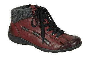 Rieker L6543-35 Red Combi Womens Ankle Boots