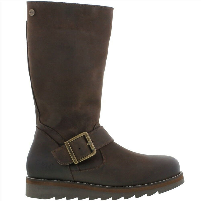 Oak & Hyde Coast Mid Brown Women's Comfortable Premium Leather Boots