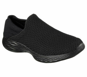 Skechers 14951 Womens YOU Walking Shoes Yoga Gym Slip On Lightweight Black