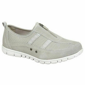 Boulevard L430F Womens Extra Wide Fitting EEE Casual Comfy Leather Shoes Grey Shoe Centre Dawlish