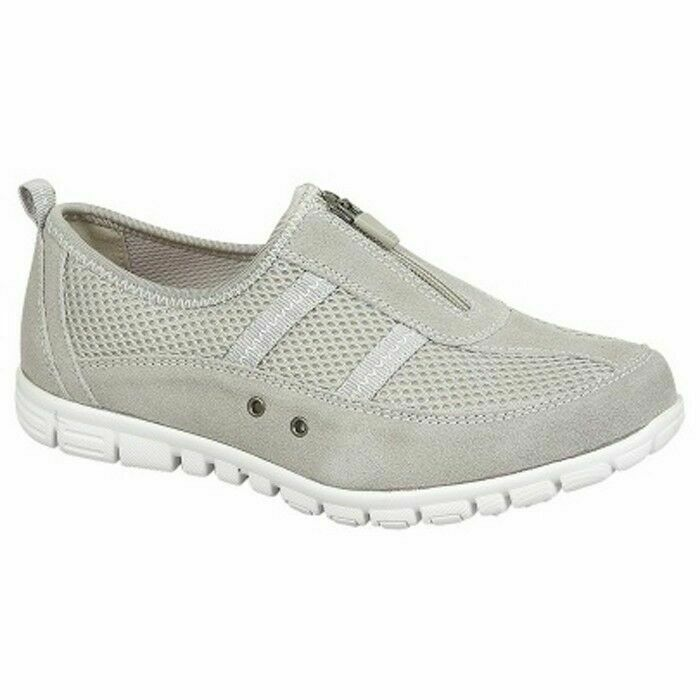 1ad24549408 Boulevard L430F Womens Extra Wide Fitting EEE Casual Comfy Leather Shoes  Grey