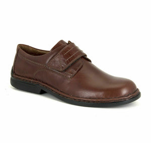 Josef Seibel Vigo 09 Brandy Brown Mens Touch Fastening Smart Real Leather Shoes