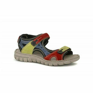 Josef Seibel Stefanie 23 Red Multi Ladies Leather Sandals