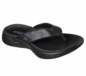 Skechers 15303 Womens Toe Post Casual Comfy Beach Sandals Flip Flops Black