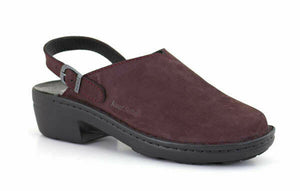 Josef Seibel Betsy Wine Womens Slip On Slingback Nubuck Leather Mule Sandals