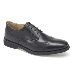 Anatomic & Co Mens Tucano Smart Formal Brogues Lace Up Real Leather Shoes Black