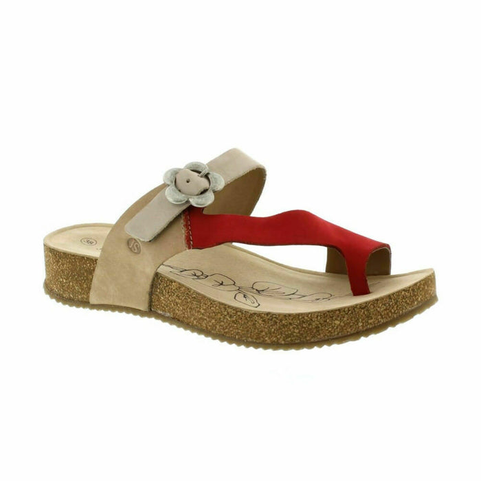 Josef Seibel Tonga 23 Natural Multi Casual Comfort Buckle Slip On Sandals