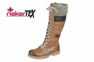 Rieker Z1442-24 Brown Combi Womens Knee High Boots Size 3