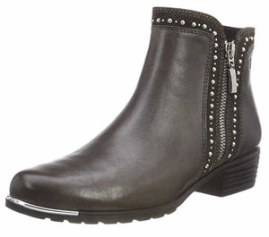 Caprice 9-25311-21 203 Dark Grey Combi Women's Leather and Textile Ankle Boots