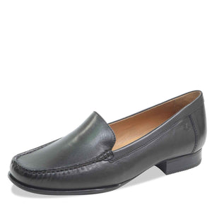 Caprice 9-24250-21 022 Black Womens Leather Loafers Smart Shoes Slip On Casual