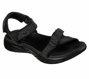 Skechers 15315 Black On The Go 600 Womens Sporty Style Casual Walking Sandals