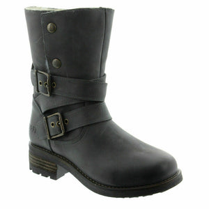 Oak & Hyde Bridge Demi Black Women's Leather Ankle Boots