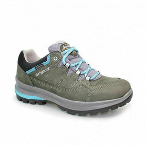 Grisport Lady Olympus Grey Turquoise Womans Walking Hiking Shoes Lace Up Nubuck