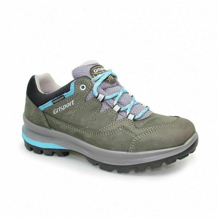 Grisport Lady Olympus Grey/Green Womens Leather Comfort Walking Shoes