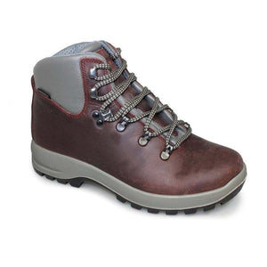 Grisport Hurricane Womens Waterproof Walking Hiking Boots Laces Leather Burgundy