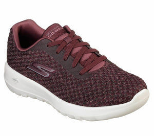 Skechers 15617 Burgundy Go Walk Joy Womens Lace Up Gym Walking Trainers Knit
