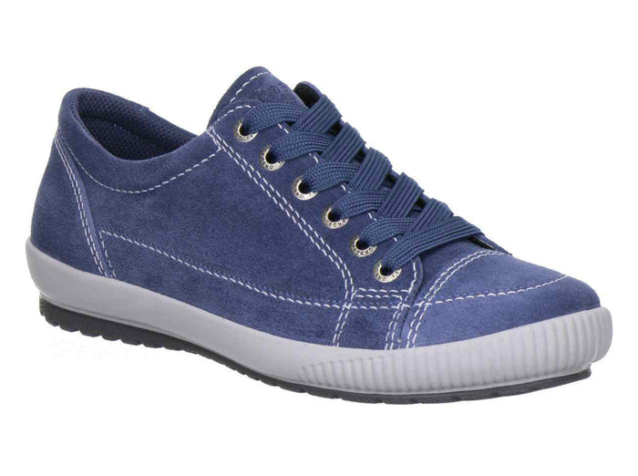 Legero 2-00820-79 Indaco Blue Women's Suede Lace Up Flats Casual Leisure Shoes