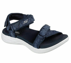 Skechers 15315 Navy/White On The Go 600 Womens Sporty Casual Walking Sandals