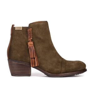 Pikolinos W9M-8941SE Ladies Comfy Smart Stylish Real Leather Ankle Boots Khaki