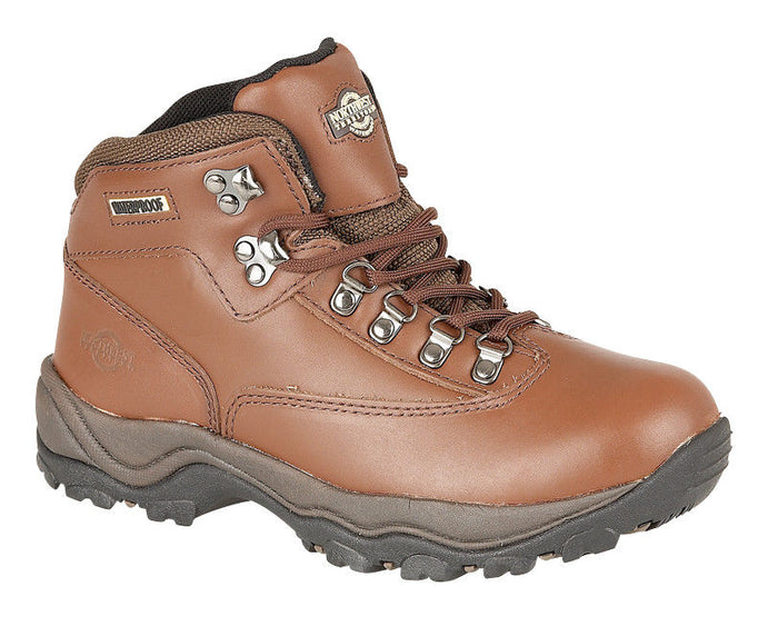 Northwest Territory Peak Brown Womens Waterproof Leather Walking Boots