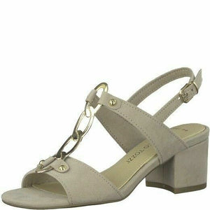 Marco Tozzi 2-28312-20 404 Nude Women's Sandals Open Toe Heel Slingback Buckle