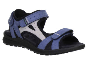 Legero 2-00732-79 Womens Walking Trekking Sandals Touch Fastening Indaco Blue