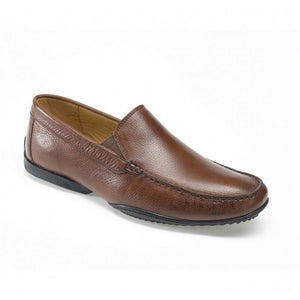 Anatomic & Co Mens Tavares Smart Slip On Real Leather Shoes Brown Pinhao Toast