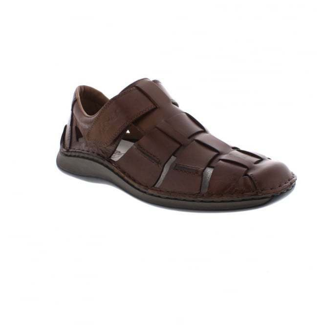 Rieker 05273-25 Mens Sandals Real Leather Closed Toe Extra Wide Fit Shoes Brown