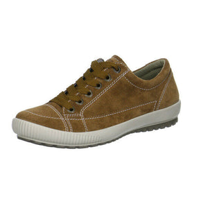 Legero 1-00820-23 Nut Women's Leather Tan Velour Lightweight Lace Up Shoes
