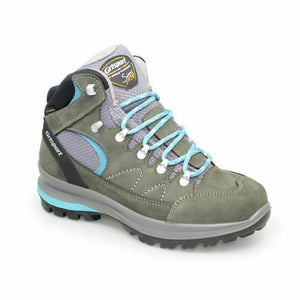 Grisport Lady Anaheim Grey Turquoise Womens Walking Hiking Boots Lace Up Leather
