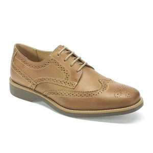 Anatomic & Co Mens Tucano Tan Castor Vintage Formal Lace Up Real Leather Shoes