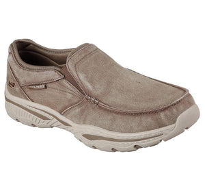 Skechers 65355/LTBR Light Brown Mens Casual Comfort Slip On Shoes