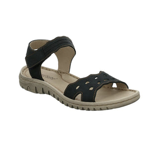 Josef Seibel Lucia 07 Blau Womens Open Toe Adjustable Strap Sandals