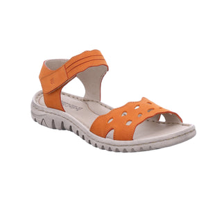 Josef Seibel Lucia 07 Orange Womens Open Toe Adjustable Strap Sandals