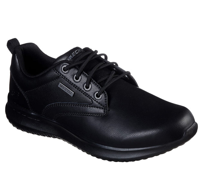 Skechers 65693/BBK Black Mens Casual Comfort Lace Up Shoes- UK 9.5