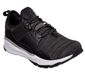 Skechers 65865 BLK Black Men's Casual Lace Up Trainers