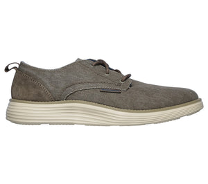 Skechers 65910 TPE Taupe Mens Lace Up Casual Shoes