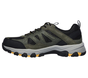 Skechers 66275/OLBK Olive Mens Casual Comfort Lace Up Walking Shoes