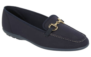 EasyB 72858N Tonga Navy (2V) Womens Stretch Casual Comfort Loafers