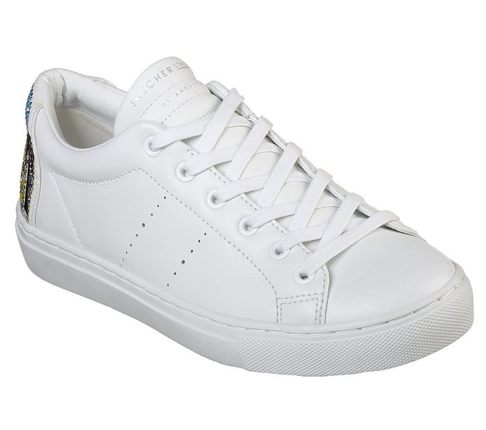 Skechers 73545 WHT Womens Casual Comfort Leather Trainers