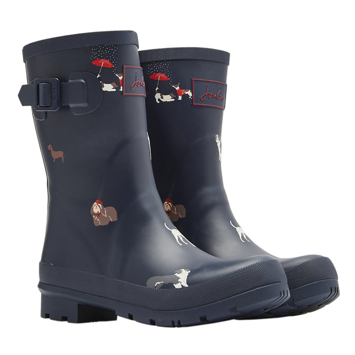 Joules Molly Welly Navy Dogs Navdog