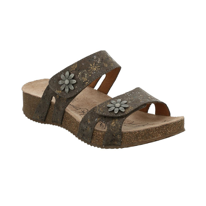 Josef Seibel Tonga 04 Taupe Multi Womens Casual Comfort Slip On Sandals