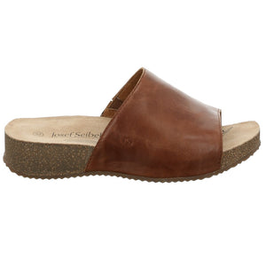 Josef Seibel Tonga 51 Camel Womens Slip On Leather Mules